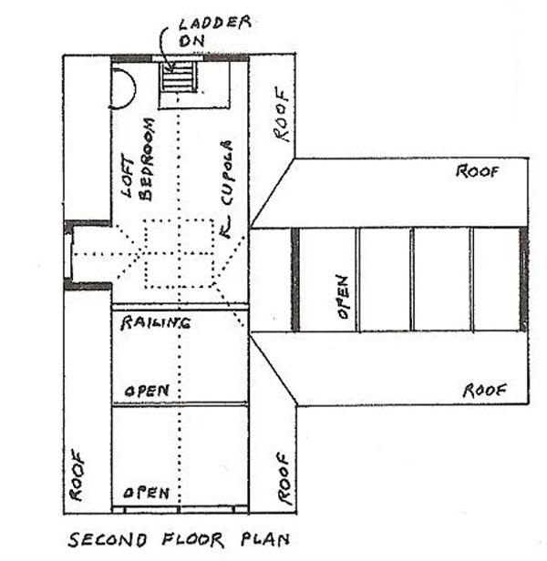 Cottage Floor Plan - Upper Floor Plan Plan #510-1