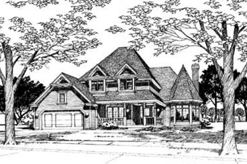 Traditional Exterior - Front Elevation Plan #20-784