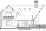 Log Style House Plan - 3 Beds 2 Baths 1744 Sq/Ft Plan #124-503 Exterior - Other Elevation