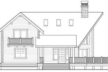 Log Exterior - Other Elevation Plan #124-503