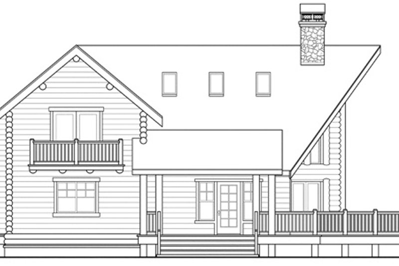 Log Exterior - Other Elevation Plan #124-503 - Houseplans.com