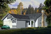 Traditional Style House Plan - 3 Beds 2 Baths 1171 Sq/Ft Plan #1-1131 Exterior - Front Elevation