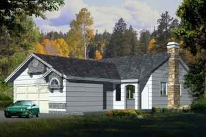 Traditional Exterior - Front Elevation Plan #1-1131