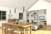 Ranch Style House Plan - 2 Beds 1 Baths 1160 Sq/Ft Plan #497-55