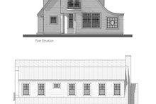 Cottage Exterior - Rear Elevation Plan #481-10