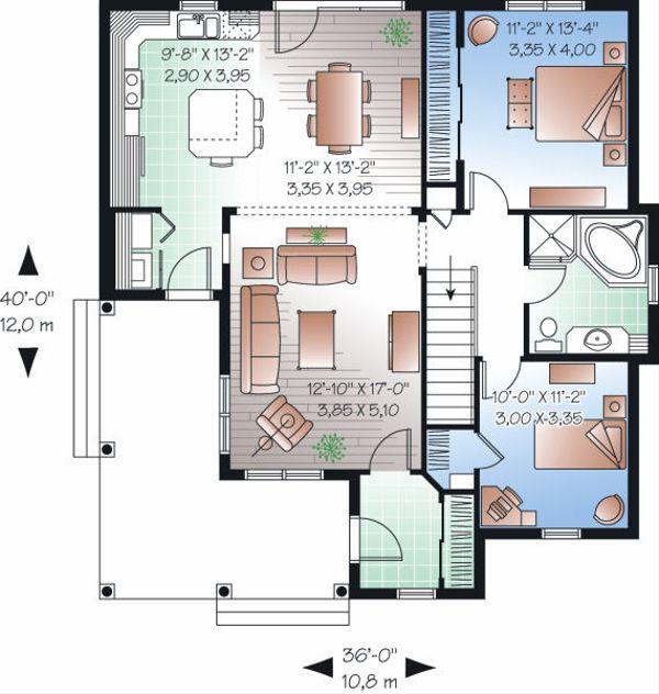 Country Floor Plan - Main Floor Plan Plan #23-778