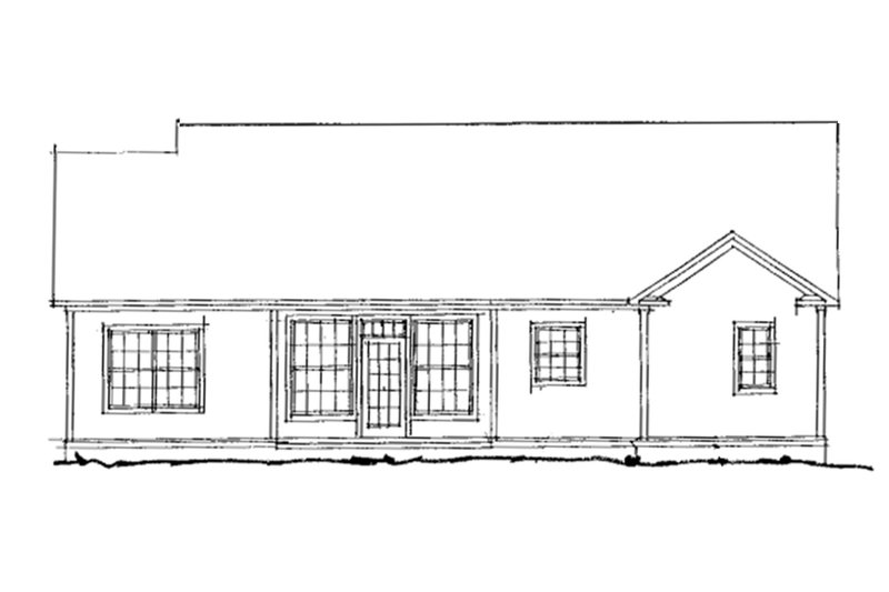 Traditional Exterior - Rear Elevation Plan #20-372 - Houseplans.com