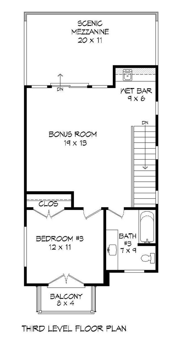 Dream House Plan - Contemporary Floor Plan - Upper Floor Plan #932-319