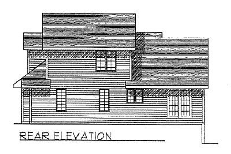 Traditional Exterior - Rear Elevation Plan #70-166 - Houseplans.com