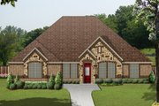 European Style House Plan - 5 Beds 3 Baths 2963 Sq/Ft Plan #84-633 Exterior - Front Elevation