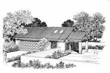 House Blueprint - Mediterranean Exterior - Front Elevation Plan #72-269
