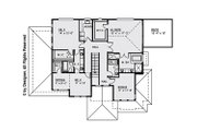 Modern Style House Plan - 4 Beds 4.5 Baths 3414 Sq/Ft Plan #1066-11 Floor Plan - Upper Floor Plan