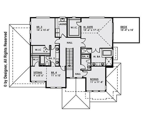 Modern Floor Plan - Upper Floor Plan #1066-11