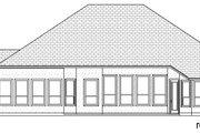 Mediterranean Style House Plan - 5 Beds 3 Baths 3087 Sq/Ft Plan #84-599 Exterior - Rear Elevation