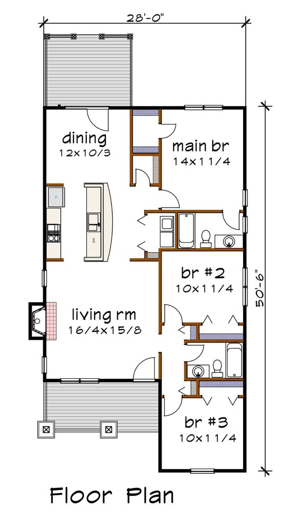 Dream House Plan - Farmhouse Floor Plan - Main Floor Plan #79-159