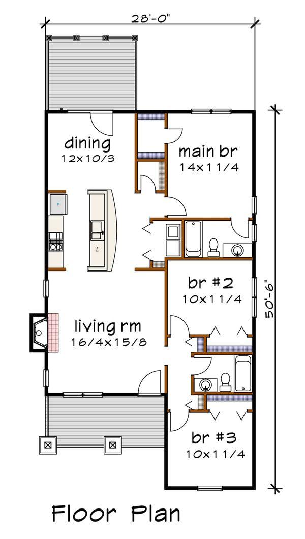 House Plan Design - Farmhouse Floor Plan - Main Floor Plan #79-159