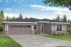 House Blueprint - Prairie Exterior - Front Elevation Plan #124-1192