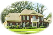 Colonial Style House Plan - 4 Beds 4 Baths 4822 Sq/Ft Plan #81-1658 Exterior - Front Elevation