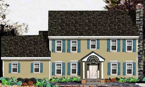 Colonial Exterior - Front Elevation Plan #3-213