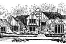 Tudor Exterior - Front Elevation Plan #72-219