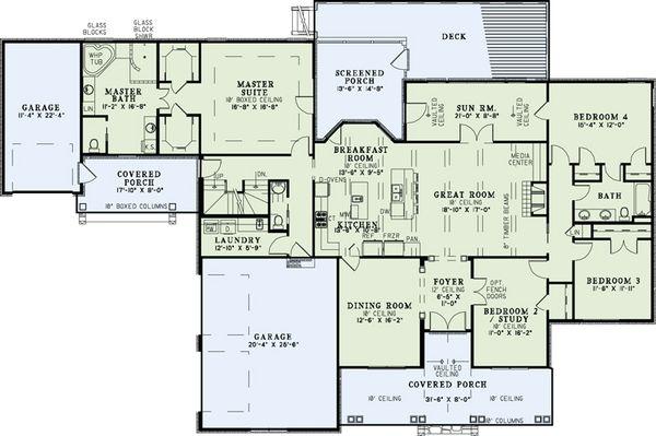 European Floor Plan - Main Floor Plan Plan #17-2509