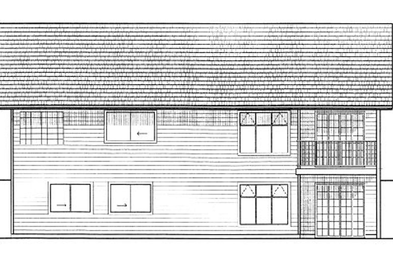 Ranch Exterior - Rear Elevation Plan #126-139 - Houseplans.com