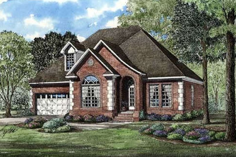European Style House Plan - 3 Beds 2.5 Baths 1797 Sq/Ft Plan #17-267 Exterior - Front Elevation