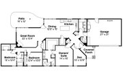 Ranch Style House Plan - 3 Beds 2.5 Baths 2192 Sq/Ft Plan #124-976 Floor Plan - Main Floor Plan