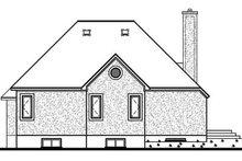 House Plan Design - European Exterior - Rear Elevation Plan #23-1005