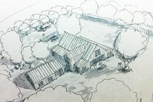 Architectural House Design - modern farmhouse plan - Nicholas Lee
