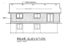Home Plan - Traditional Exterior - Rear Elevation Plan #100-105