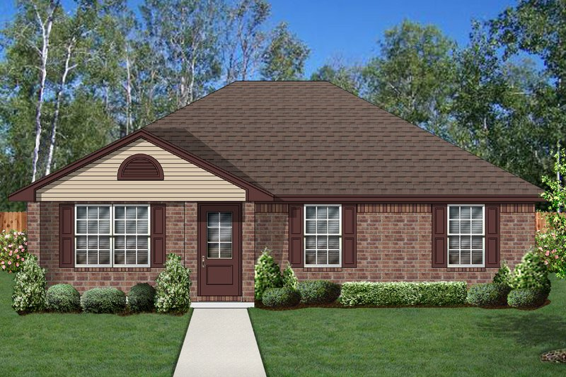 Traditional Exterior - Front Elevation Plan #84-583 - Houseplans.com