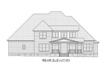 House Plan Design - European Exterior - Rear Elevation Plan #1054-89