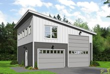 Dream House Plan - Contemporary Exterior - Front Elevation Plan #932-90