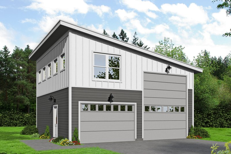 Home Plan - Contemporary Exterior - Front Elevation Plan #932-90