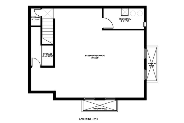 Modern Floor Plan - Lower Floor Plan #498-5