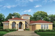 Architectural House Design - Mediterranean Exterior - Front Elevation Plan #930-12