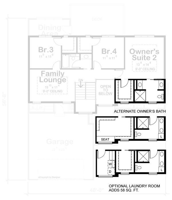 Dream House Plan - Contemporary Floor Plan - Upper Floor Plan #20-2429