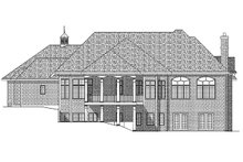 European Exterior - Rear Elevation Plan #70-781