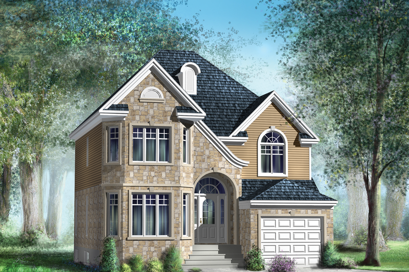 European Style House Plan - 4 Beds 2 Baths 1820 Sq/Ft Plan #25-4474 Exterior - Front Elevation