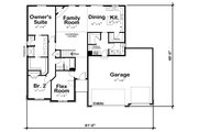 Ranch Style House Plan - 3 Beds 2 Baths 1750 Sq/Ft Plan #20-2295 Floor Plan - Main Floor Plan