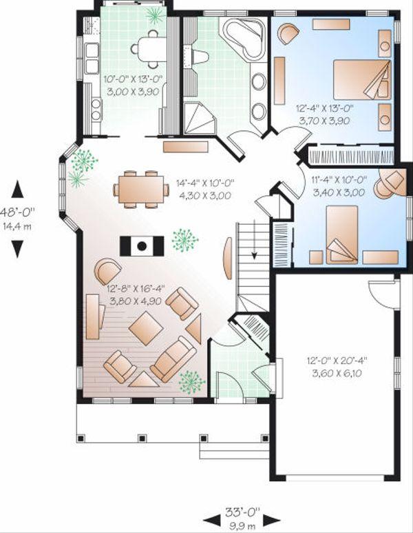 Country Floor Plan - Main Floor Plan Plan #23-785