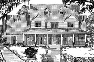 Country Exterior - Front Elevation Plan #62-132