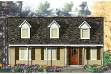 Country Exterior - Front Elevation Plan #3-120