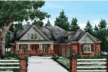 Craftsman Exterior - Front Elevation Plan #927-2
