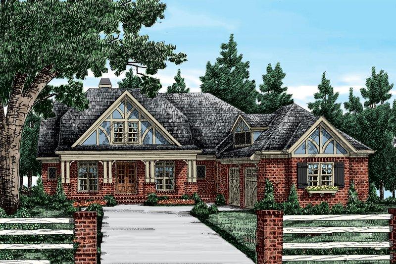 Craftsman Exterior - Front Elevation Plan #927-2 - Houseplans.com