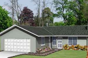 Ranch Exterior - Front Elevation Plan #1-151