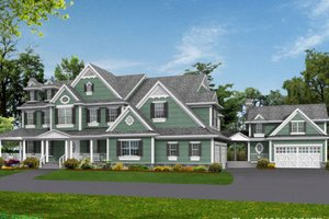 Country Exterior - Front Elevation Plan #132-180