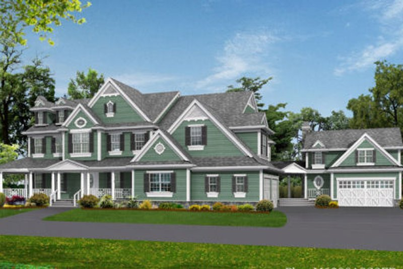Country Style House Plan - 4 Beds 4.5 Baths 7950 Sq/Ft Plan #132-180 Exterior - Front Elevation
