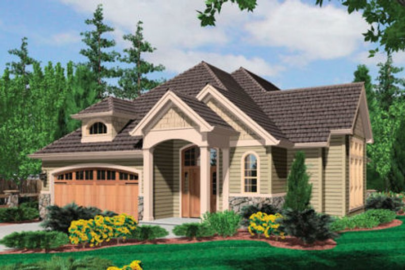 Traditional Exterior - Front Elevation Plan #48-375